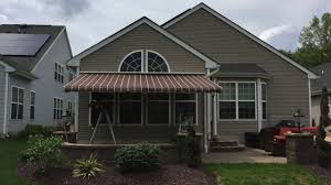 Motorized Awnings Reviews Sunsetter Motorized Awning Installation In Waretown Nj 08758
