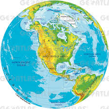 America World Map by Geoatlas Globes North America Map City Illustrator Fully