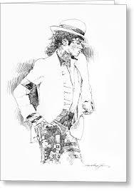 michael jackson pencil sketch greeting cards fine art america