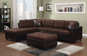 Left Sectional Sofa Contemporary Black Leather Sectional Sofa Left Side Chaise By