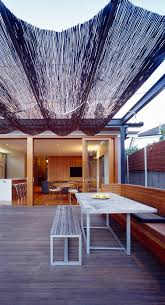 retractable patio covers deck contemporary with built in seating