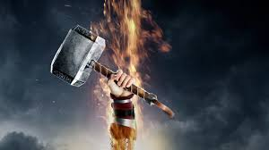 movies thor hammer thor 2 the dark world mjolnir arms up