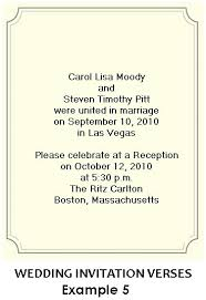 wedding ceremony invitation wording wedding invitation wording for reception and ceremony at same