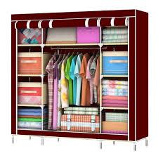 amazon com asunflower portable wardrobe garment hanger closet