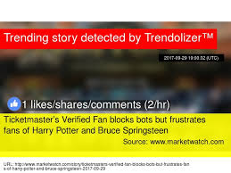 ticketmaster verified fan harry potter jk rowling had goblet of fire response to tomi lahren 039 s trump