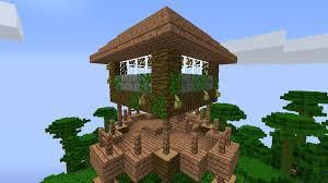 Awesome Minecraft Jungle Treehouse 8 Steps