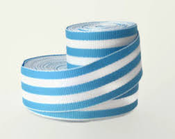 blue and white striped ribbon and white 7 8 striped grosgrain ribbon by the yard