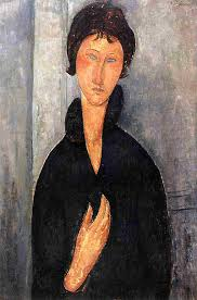 modigliani woman with a fan woman with blue eyes by amedeo modigliani