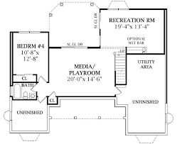 fanciful 4 bedroom house with finished basement floor plans plan