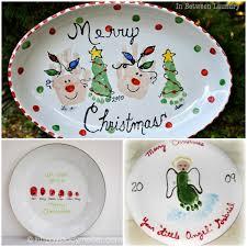 christmas plate handprint and footprint christmas plate designs handprint