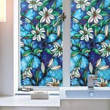 Decorative Window Decals For Home 300mil Window Film Static Cling Non Adhesive Glass Tint Film