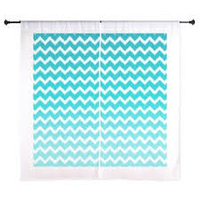 Curtains Chevron Pattern Ikat Teal Blue Ombre Chevron Pattern Curtains By Doodles Design
