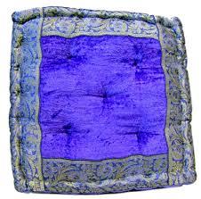 large velvet floor cushion 16 x 16 x 4 inch gaddi the indian