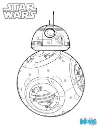 bb 8 the force awakens coloring page star wars party