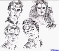 how to sketch people step by step faces people free online