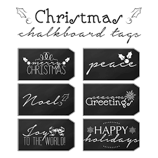 free printable christmas chalkboard tags the cottage market