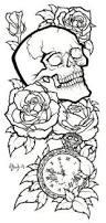 skull tattoo design lineart by blueundine on deviantart drawing