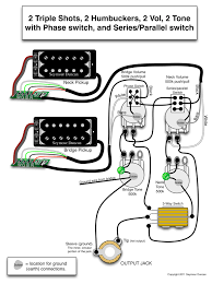 seymour duncan wiring diagram 2 2 humbuckers 2 vol
