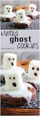 easy melted ghost cookies for halloween