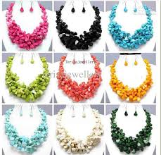 fashion jewelry red necklace images New arrive hot deep true mixes coral chunky necklace earring jpg