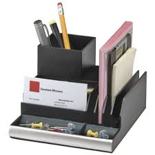 Executive Desk Accessories by Italplast Desk Organiser Black Officeworks