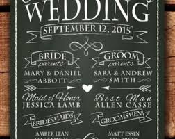 chalkboard wedding program chalkboard wedding program sign printable by hopsketchdesigns
