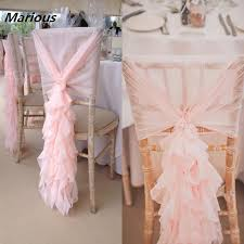 lace chair sashes curly willow ruffles wedding chiavari chiffon chair back cover