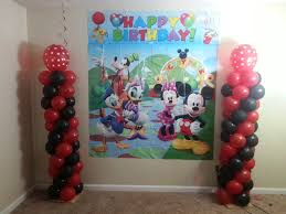 balloon decoration for birthday at home balloon decoration bday birthday mickey theme 1year baby