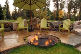 Backyard Stamped Concrete Ideas Best Outdoor Patio Concrete Patio With Fire Pit Ideas Wood And