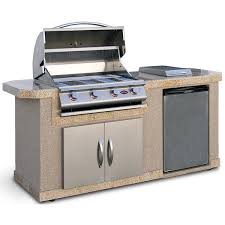 cal flame outdoor kitchen islands 4 burner built in propane gas