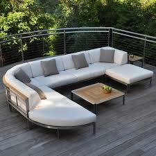 Teak And Stainless Steel Outdoor Furniture by Kingsley Bate Tivoli Stainless Steel Sectional Curved Corner Chair