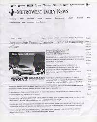 Letter Of Intent Law Enforcement by Framingham Police Department Harassment Complaints