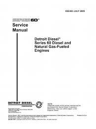 manual detroit serie 60 internal combustion engine diesel engine