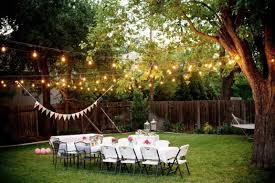 simple backyard wedding decorations home design