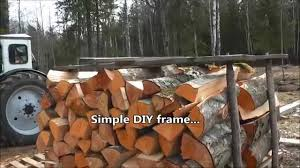 Homemade Firewood Rack Plans by Simple Diy Portable Firewood Rack Youtube