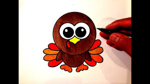 how to draw a cute turkey youtube
