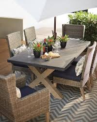 outdoor rectangular dining table lovely faux wood patio table naples rectangular dining table faux