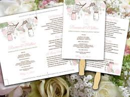 Rustic Wedding Program Fans The 25 Best Diy Wedding Program Template Ideas On Pinterest