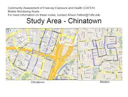 Google Maps Boston by Cafeh Air Monitoring Route Community Assessment Of Freeway
