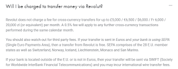 swift outgoing transfer total cost travelling revolut community