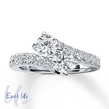 ever us two stone ring 2 ct tw diamonds 14k gold
