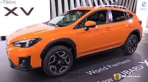 orange subaru crosstrek 2018 subaru xv exterior and interior walkaround debut at 2017