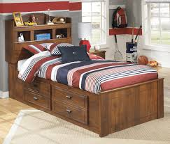 Twin Bedroom Set With Storage Signature Design By Ashley Barchan Twin Bookcase Bed With Underbed