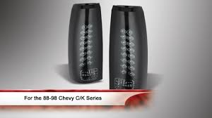 1998 chevy silverado tail lights 88 98 chevy c k series 1500 2500 3500 led tail lights youtube