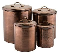copper canisters kitchen 4 hammered copper canister set transitional kitchen