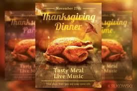thanksgiving info thanksgiving dinner flyer flyer templates creative market