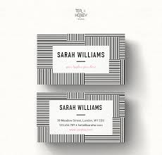 stripes pattern business card design template calling card