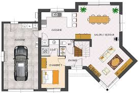 plan de maison en l avec 4 chambres plans maison en photos 2018 plan de maison contemporaine 4