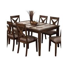 tile top dining room tables jofran tri colored tile top dining table in tucson brown walmart com