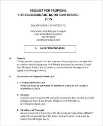 advertising proposal template 9 advertising proposal templates
